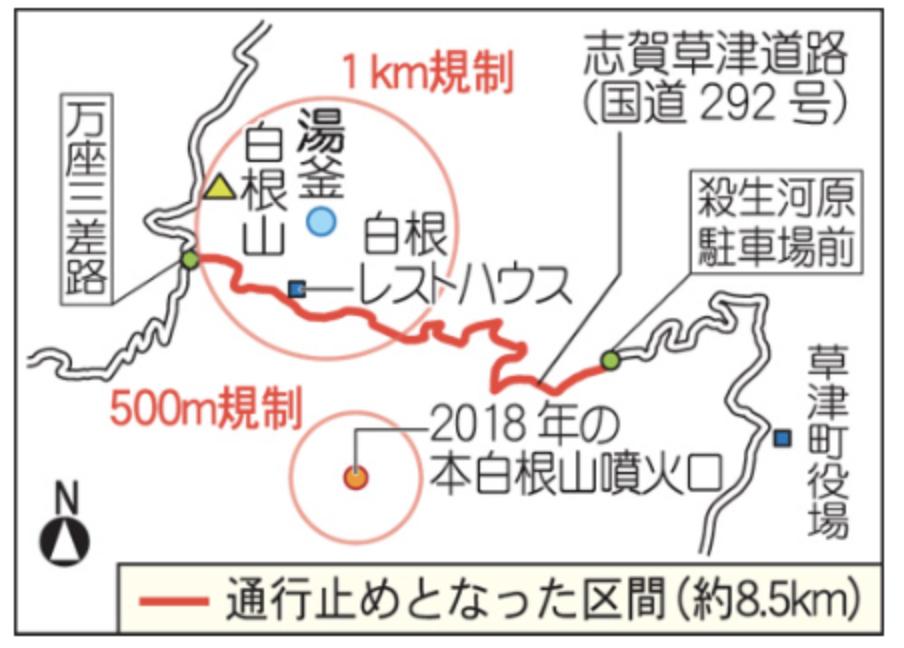 志賀高原交通規制範囲