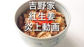 吉野家紅生姜炎上動画