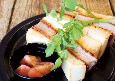 チーズガーデン那須本店のカフェメニュー_ロースカツサンド