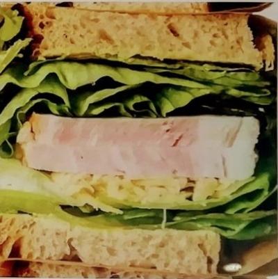 チーズガーデン那須本店カフェメニュー_厚切りハムとゴーダチーズ