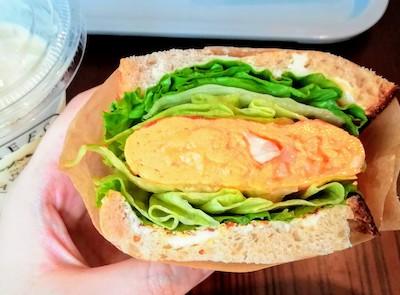 チーズガーデン那須本店のカフェメニュー_チーズオムレツサンド