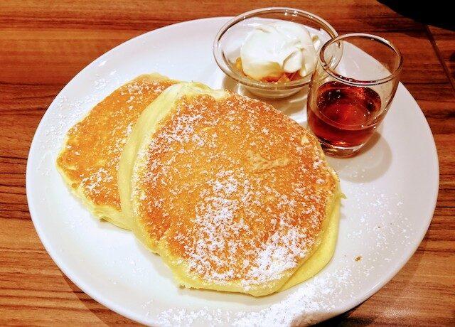 高倉町珈琲のリコッタパンケーキ
